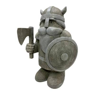 14.1 in. Viking Gnome Indoor/Outdoor Polyresin Garden Statue