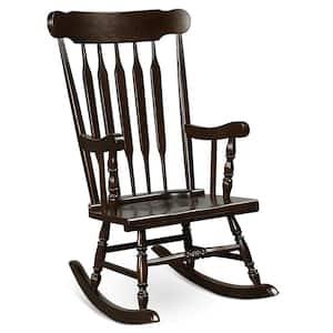 Coffee Wood Indoor Outdoor Rocking Chair Rocker