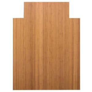 Standard 5 mm Natural Light Brown 36 in. x 48 in. Bamboo Roll-Up Office Chair Mat with Lip