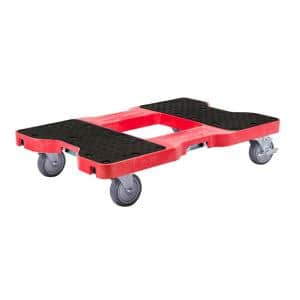 1500 lbs. Capacity Industrial Strength Professional E-Track Dolly in Red