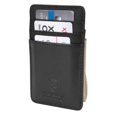 RFID Blocking Leather Money Clip