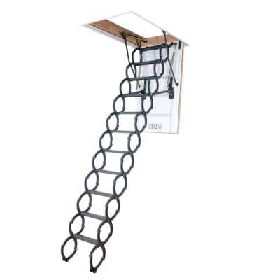 LST 9 ft. 2 in., 30 in. x 54 in. Insulated Steel Scissor Attic Ladder with 350 lbs. Maximum Load Capacity Not Rated