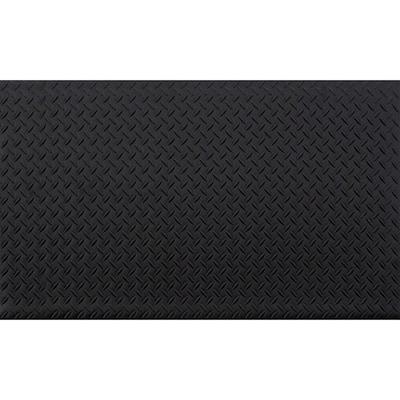 Black 24 in. x 36 in. Anti-Fatigue Vinyl Foam Commercial Mat
