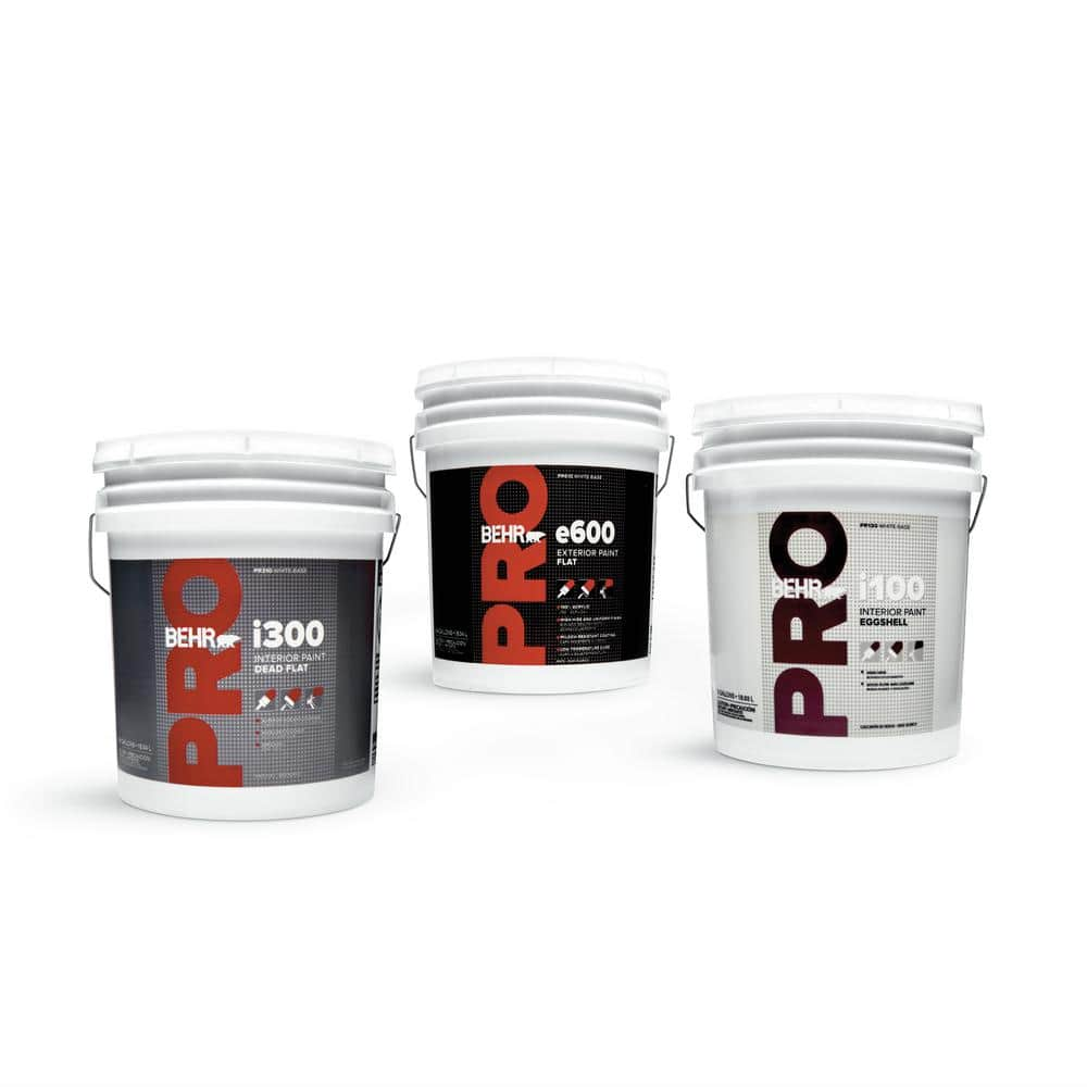 Behr Pro 5 Gal I100 Toned Base Eggshell Interior Paint Pr13005 The Home Depot