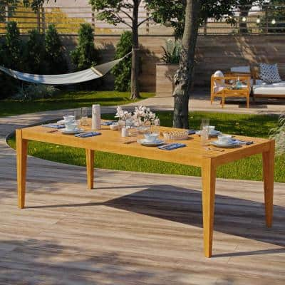 Northlake 85 in. Natural Grade A Teak Wood Outdoor Dining Table