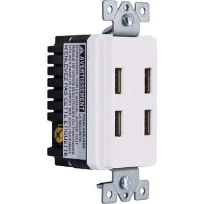 4 USB Charging In-Wall Receptacle