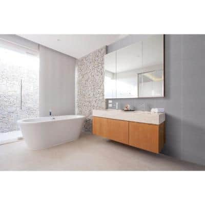 Morning Tide Gray 10 in. x 20 in. Glossy Textured Ceramic Wall Tile (10.76 sq. ft./Case)