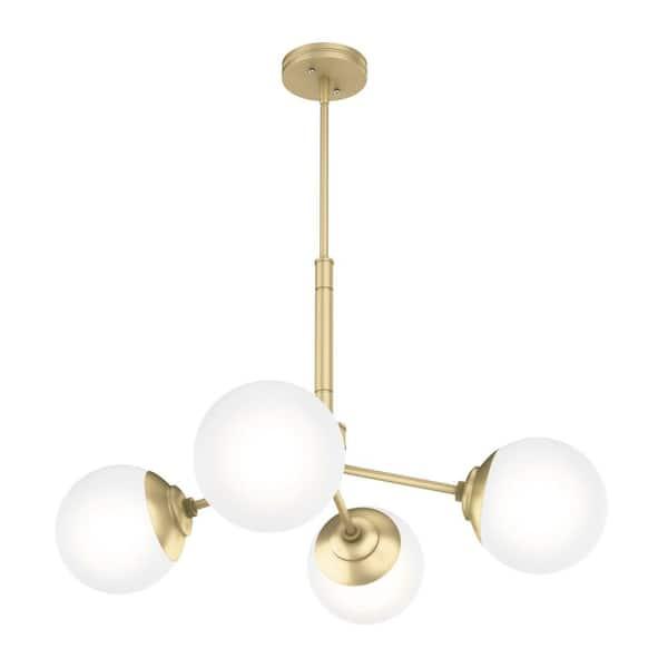 Modern Brass Chandeliers Lighting The Home Depot