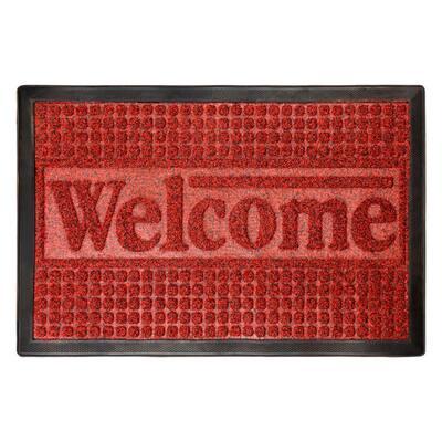 15.5 in. x 23 in. Indoor/Outdoor Nonslip Rubber Welcome Door Mat