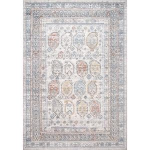 Jovi Transitional Tribal Print Beige 4 ft. x 6 ft. Indoor Area Rug