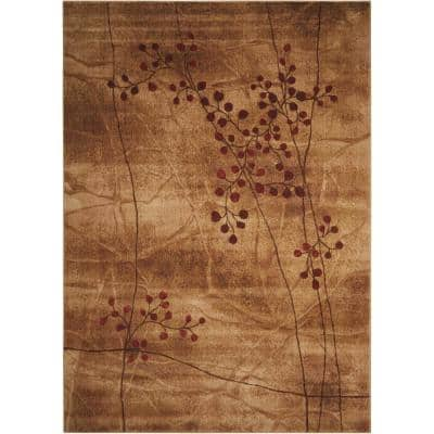 Somerset Latte 4 ft. x 6 ft. Oriental Modern Area Rug
