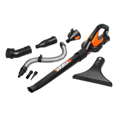 POWER SHARE 20-Volt 120 MPH 80 CFM Cordless Battery Leaf Blower/Sweeper (2Ah Battery, Charger & Accessories Included)