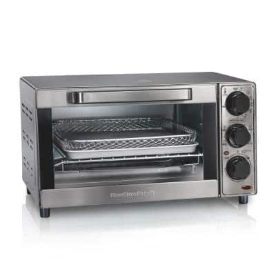 Sure Crisp 1120 W 4-Slice Stainless Steel Toaster Oven with Air Fry