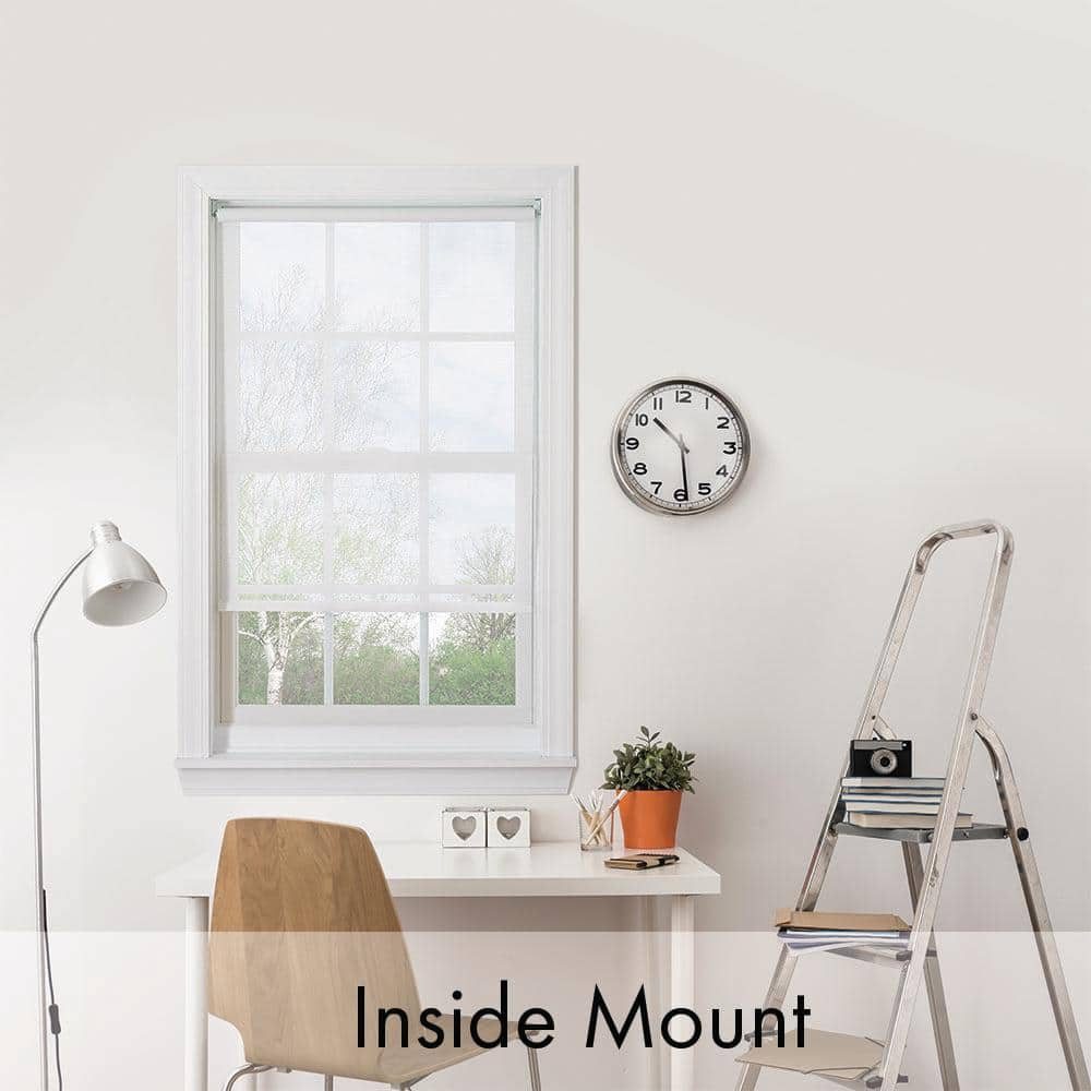 Bali Cut To Size White Cordless Uv Blocking Fade Resistant Roller Shades 43 In W X 72 In L 43x72crdlssrw The Home Depot