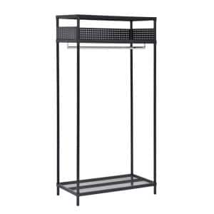 Black Steel Clothes Rack 36 in. W x 71 in. H