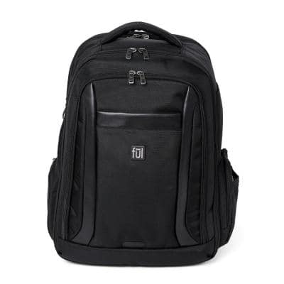 Heritage 18 in. Classic Black Laptop Backpack