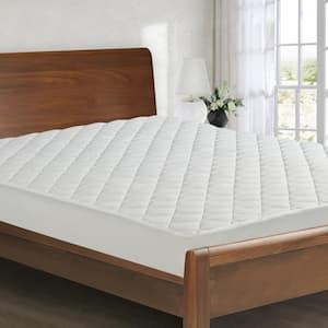 All Season Medium Standard Polyester Queen Mattress Pad