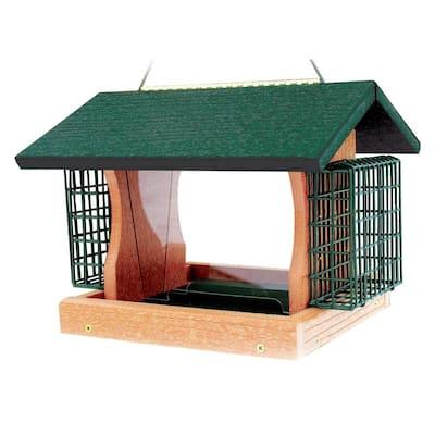 Going Green Large Premier Feeder with Suet Cages Bird Feeder