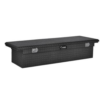 69 in. Matte Black Aluminum Truck Tool Box with Low Profile (Heavy Packaging)
