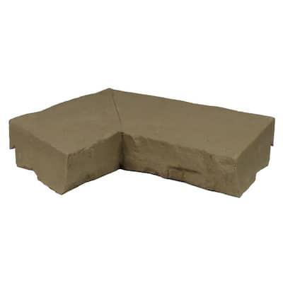 Sandstone Brown 9.75 in. x 7.5 in. Faux Stone Ledger Inside Corner (2-Pack)