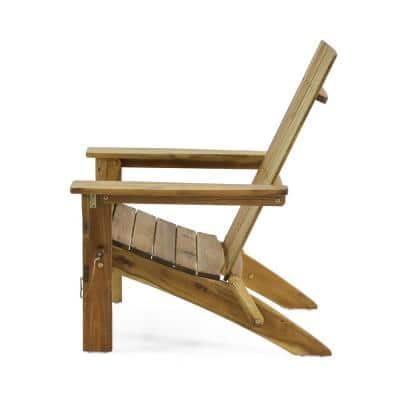 Zuma Natural Stained Folding Wood Adirondack Chair