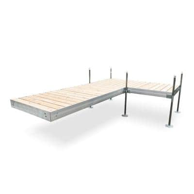 12 ft. L-Style Aluminum Frame with Cedar Decking Complete Dock Package