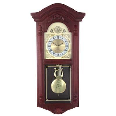 European Wood Cherry Wall Clock
