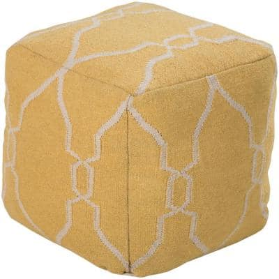 Dia Bright Yellow Accent Pouf