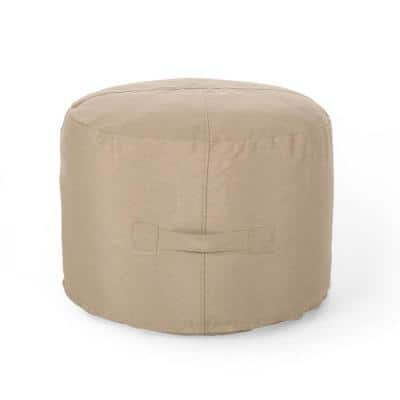 Sandy Cay Tuscany Water Resistant Outdoor Ottoman Pouf