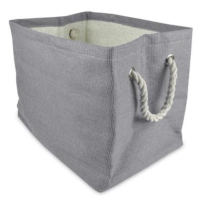Rectangle Woven Paper Solid Decorative Bin