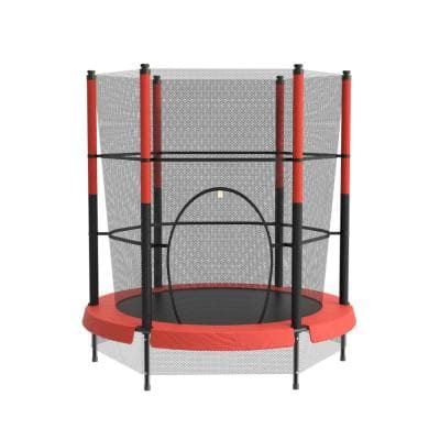 55 in. Round Mini Trampoline with Safety Pads for Kids Child Indoor Outdoor