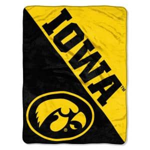 Halftone University of Iowa Polyester Twin Knitted Blanket