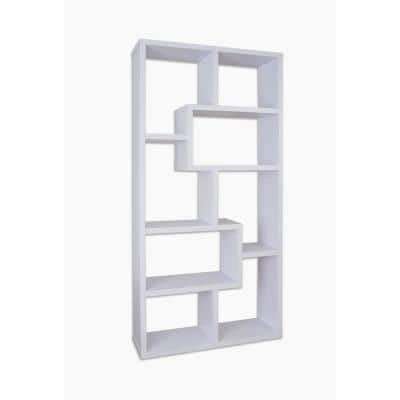 Dore 71 in. White Wood 8-shelf Standard Bookcase with Open Back