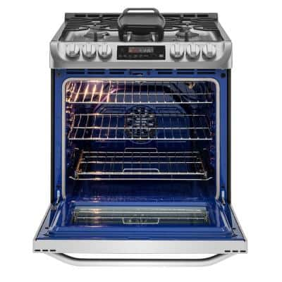 6.3 cu. ft. Smart Slide-In Gas Range with 5 Burners, ProBake Convection & Wi-Fi Enabled in Stainless Steel