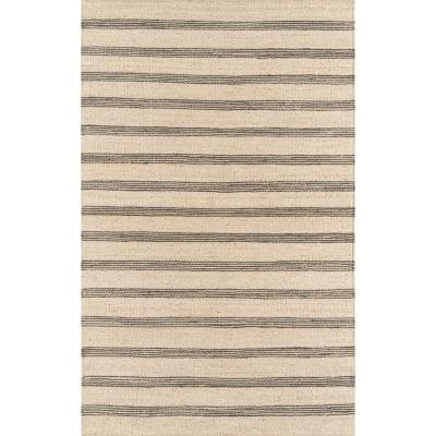 Montauk Lighthouse Charcoal 7 ft. 6 in. X 9 ft. 6 in. Indoor Area Rug