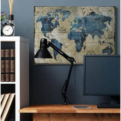 """36 in. x 48 in. """"Vintage Abstract World Map"""" by Art Licensing Studio Canvas Wall Art"""