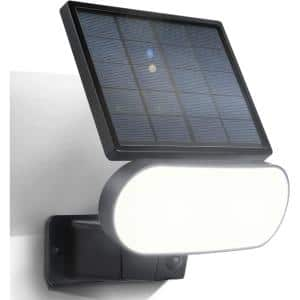 2-In-1 Solar Panel Charger and Security Light for Arlo Pro 3/Pro 4 and Ultra/Ultra 2 Camera Only, Black