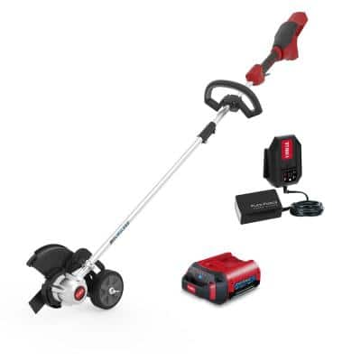 8 in. 60-Volt Max Lithium Ion Cordless Electric Lawn Edger - Battery and Charger Included