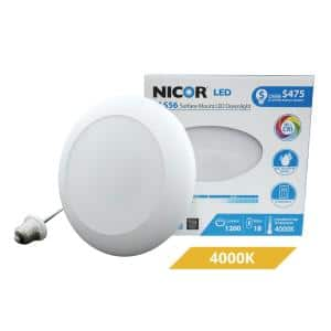DLS 5/6 in. White 1200 Lumen Integrated LED Recessed Surface Mount Trim in 4000K