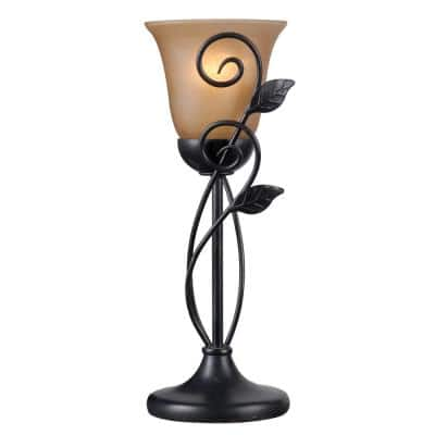 Arbor 16.25 in. 1-Light Bronze Table Torchiere Lamp
