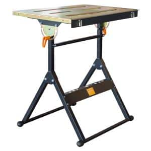30 in. x 22 in. Foldable Flameproof Steel Welding Table with Adjustable Tilt Top