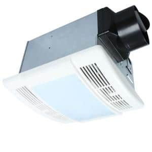 90 CFM Ceiling Bathroom Exhaust Fan with LED Light