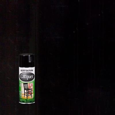 11 oz. Gloss Black Lacquer Spray Paint
