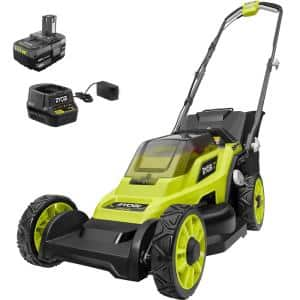 ONE+ 18V 13 in. Cordless Battery Walk Behind Push Lawn Mower with 4.0 Ah Battery and Charger