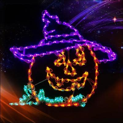32 in. LED Jack-O-Witch
