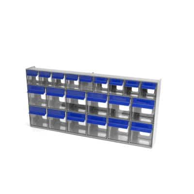 24 in. W Stackable 669-Multi-Store Set Tilt Bins Organizer for Everything from DIY to Crafts