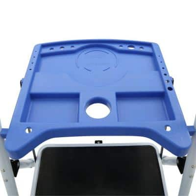3-Step Steel Metal Folding Step Stool Ladder with Paint Tray
