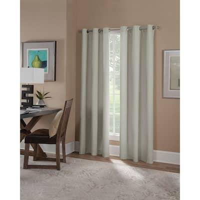 Linen Grommet Blackout Curtain - 42 in. W x 84 in. L