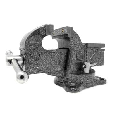 3 in. Heavy-Duty Cast Iron Bench Vise with Swivel Base
