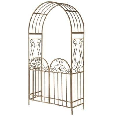 93 in. Garden Accents Gated Archway